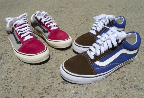 VINTAGE OLD SKOOL BY VANS  Here at NYLON HQ we believe that when a piece of clothing is truly great, the only thing you can do to improve it is make it available in even more colors. When it comes to Vans style 36 aka the Old Skool, a shoe that's been around for 35 years (we've been wearing it for 20) the new color offerings couldn't get better. The new brown/estate blue and tawny port/frost gray are by far some of our favorite combos ever offered. If you've never owned a pair, now is the time for your first, check them out HERE in these and a dozen other color ways.