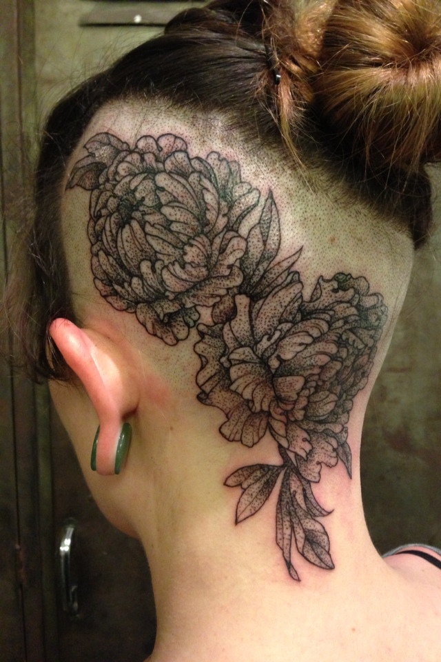 fuckyeahtattoos:  Peonies done by Rachel Hauer at East River Tattoo in Greenpoint Brooklyn, NY!