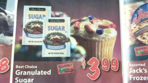 Cupcake in Advertisement is Covered in Pills They're so delicious, they even stop all the voices in my head.