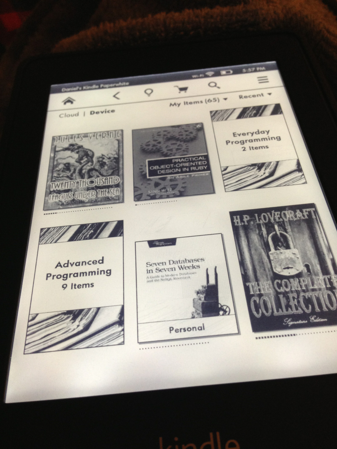 I love my Kindle Paperwhite. What do you read ebooks on?