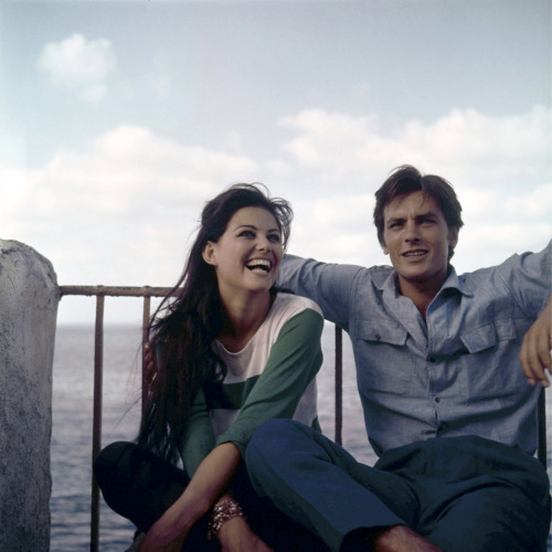 voxsart:  Monsieur Chambray 1. Alain Delon, with Claudia Cardinale, 1962.