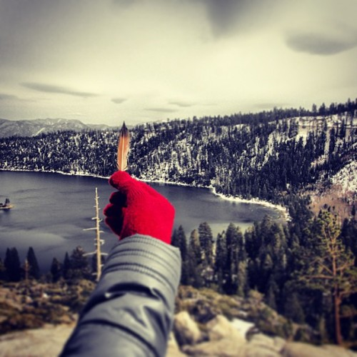 #laketahoe #tahoe #lake #emeraldbay #feather #red #travel #outdoors #nature #roadtrip #photo #beauty #insta #igers #california #californialove #color #california_igers #beauty #glove #webstagram #instahub #instagramers #instagrammers #instagramhub #picoftheday #photooftheday #bestofday #bestofnature #like #kileyandsteveroadshow #theadventureduo #steveslefteye