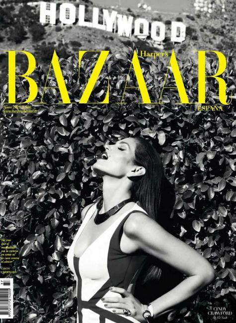 Harpers Bazaar (Spain) Cindy Crawford stars this fab cover from Spanish Harpers Bazaar; you gotto see theirMay issue here, one of the best of the year!