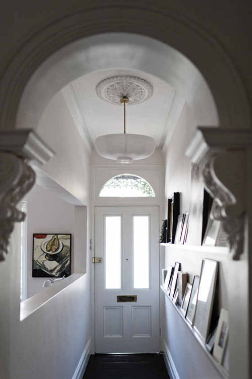 charming white hall (via desire to inspire)