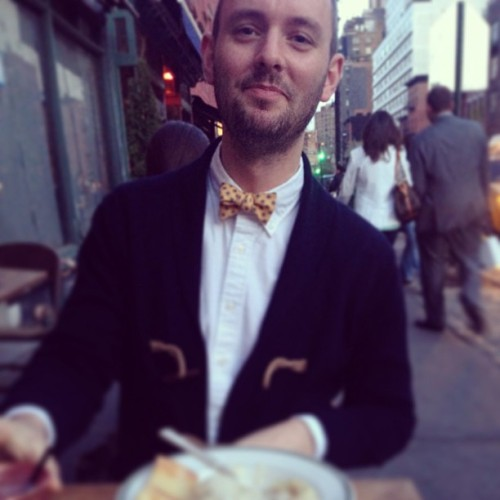 Mouth full of #meatballs @a_will_i_ams #instagay #bowtie #bowtiesarecool
