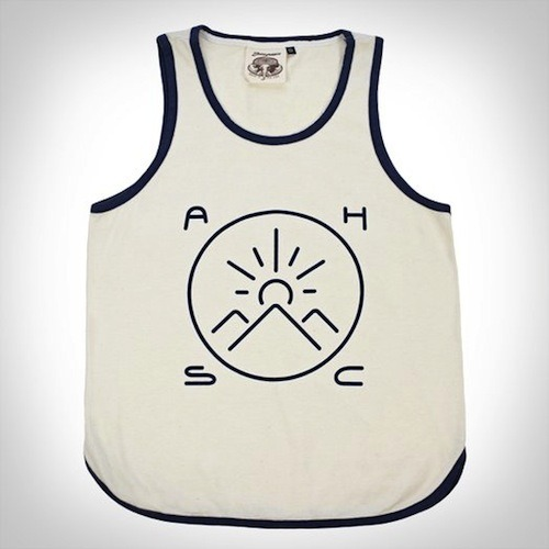Our Swim Club San Jacintos Tank pays homage to our sunward-jutting neighbors just to the East of Ace Hotel & Swim Club — the fair San Jacintos — and to our brightest shining star. Seattle-based Jungmaven makes these from a natural white material composed of 55% hemp and 45% organic cotton. Hemp is an environmentally friendly, sustainable crop that produces more fiber per acre than trees, has naturally anti-microbial properties and goes from seed to harvest in only four months. It's hard to smoke though — we tried. Recommended use: wearing.