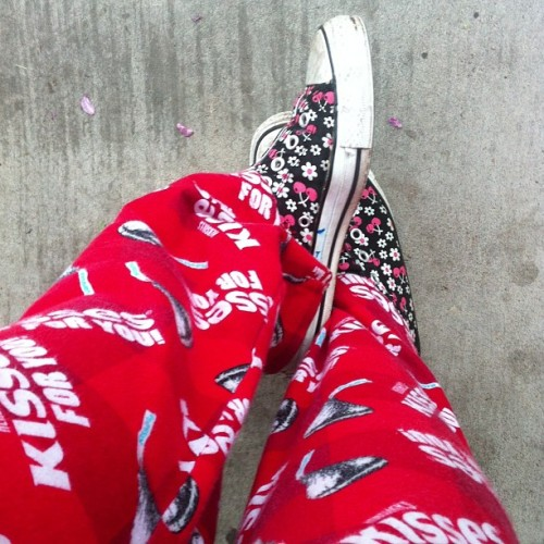 To #lazy to #change into regular #jeans #red #pjs whatevz