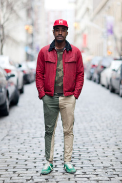 Travis is rockin' a sweet red jacket from Barbour...SoHo, NYC (via Details)