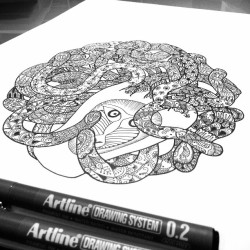 A baboon for my second Henna Medusa Doodle. by nic_the_ http://instagram.com/p/YZ-tlXIFDH/