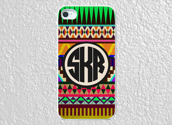Monogram iphone 5 case plastic aztec colored by worthymonogram on We Heart It - http://weheartit.com/entry/52958625/via/WorthyCases