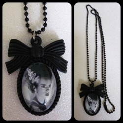 Bride of Frankenstein Cameo Necklace https://www.etsy.com/shop/CalamityJayneDesigns
