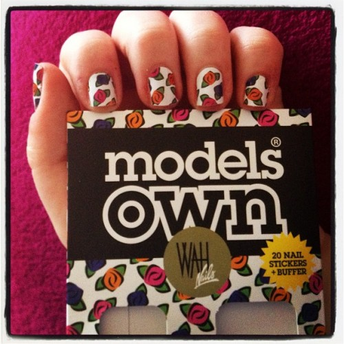 Love these nail art wraps from @modelsown and @wahnails! Really easy to use, keen to see how well they last though #nails #nailart #instanails #nailstagram #mani #manimonday #manicure #manicuremonday #nailswag #floralnails #nailwrap #nailwraps #wahnails #modelsown #flowers #spring #springstyle #fashion #beauty #bbloggers