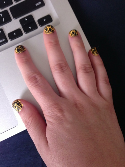 Hufflepuff inspired nails