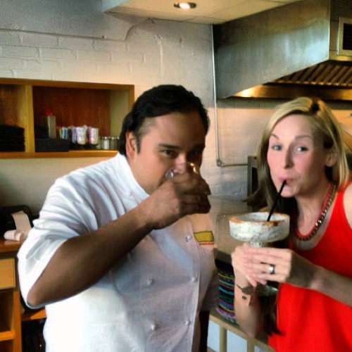 Drinking house-infused margs with @sachefjohnny at Fruteria in #travelSA (at The Fruteria)
