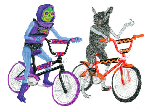 what-that-is:   Matt Furie.  SICK BIKE