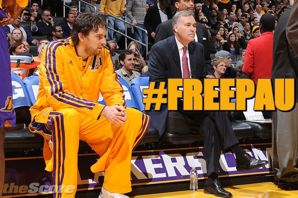 Pic: Dear Mike D'Antoni, #FreePau. #Lakers