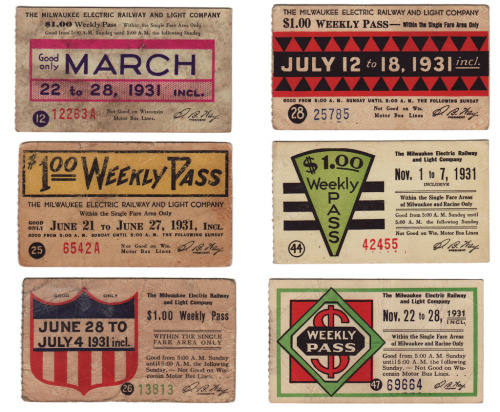 Milwaukee Bus Passes. 1931 (by kindra is here) From my collection.