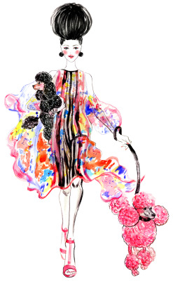 Fashion Illustration by Sunny Gu , outfit inspired by Elie Saab Spring 2013 RTW collection. Get updates from Facebook Twitter Pinterest