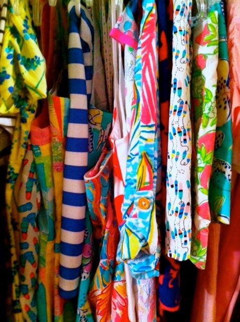 my lilly closet section on this rainy day!