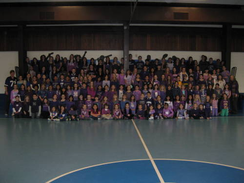 Purple Pride in New Jersey! Go 'Cats! nufbfamily:   St. Benedict School in New Jersey celebrates NU's Gator Bowl win by having a purple dress down day today. Current #B1GCats Offensive Lineman Shane Mertz attended elementary school at St Benendict.