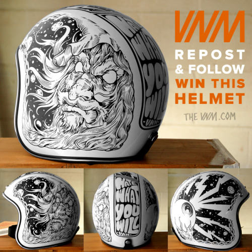 vnmftw:  We're giving away this hand drawn Biltwell helmet! Just follow @VNM_Horsebites and@VNM_Yardley on Instagram and repost to win it. We will pick a lucky bastard at random this Friday, May 17th. Check out Facebook.com/TheVNM for more pics and info.