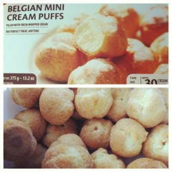 Oh so good! #belgianminicreampuffs