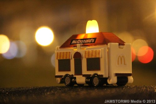 """McDonald's Nightly Pop Up Store!"" Date: May 19, 2013 Theme: Kids Toy Meal Life! Where: Legaspi Active Park, Makati City, Philippines Models: Truck/Rolling Store (Happy Meal: Bandai's VooV), McDonald's  Production Date: May 19, 2013 Camera: Canon EOS 60D / Kit: EF-S 18-135mm IS"