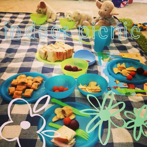 Riley wanted a picnic.. Riley got a picnic :)