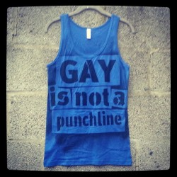 #gay is not a punchline #tanktop  by #rainbowalternative on #etsy . #lesbian #bisexual #transgender #queer #lgbtequality #antibullying #straightally #lgbtpride