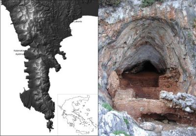 "archaeology:   A trove of Neanderthal fossils including bones of children and adults, discovered in a cave in Greece hints the area may have been a key crossroad for ancient humans, researchers say. The timing of the fossils suggestsNeanderthals and humans may have at least had the opportunity to interact, or cross paths, there, the researchers added. Neanderthals are the closest extinct relatives of modern humans, apparently even occasionally interbreeding with our ancestors. Neanderthals entered Europe before modern humans did, and may have lasted there until about 35,000 years ago, although recent findings have called this date into question. To learn more about the history of ancient humans, scientists have recently focused on Greece. ""Greece lies directly on the most likely route of dispersals of early modern humans and earlier hominins into Europe from Africa via the Near East,"" paleoanthropologist Katerina Harvati at the University of Tübingen in Germany told LiveScience. ""It also lies at the heart of one of the three Mediterranean peninsulae of Europe, which acted as refugia for plant and animal species, including human populations, during glacial times — that is, areas where species and populations were able to survive during the worst climatic deteriorations."" ""Until recently, very little was known about deep prehistory in Greece, chiefly because the archaeological research focus in the country has been on classical and other more recent periods,"" Harvati added. Harvati and colleagues from Greece and France analyzed remains from a site known as Kalamakia, a cave stretching about 65 feet (20 meters) deep into limestone cliffs on the western coast of the Mani Peninsula on the mainland of Greece. They excavated the cave over the course of 13 years. The archaeological deposits of the cave date back to between about 39,000 and 100,000 years ago to the Middle Paleolithic period. During the height of the ice age, the area still possessed a mild climate and supported a wide range of wildlife, including deer, wild boar, rabbits, elephants, weasels, foxes, wolves, leopards, bears, falcons, toads, vipers and tortoises.  More here."