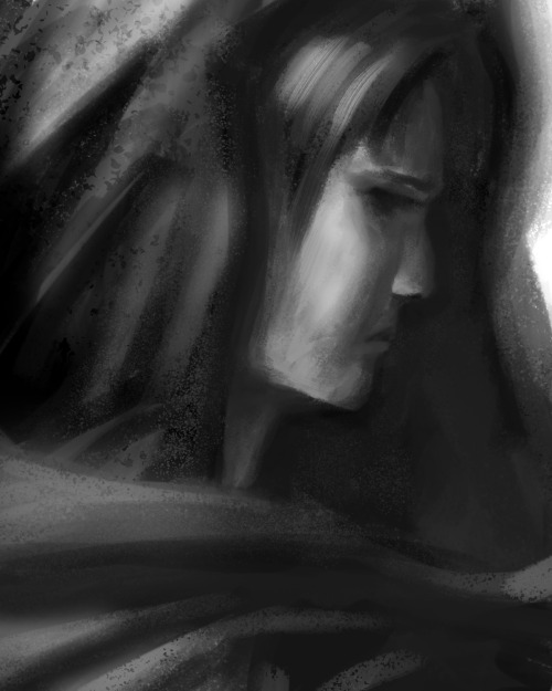 A sketch I made while cleaning up my brush library in photoshop. 40 mins