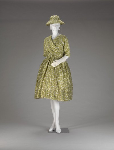 Silk Shantung Day Dress and Hat | Christian Dior | IMA | 1957