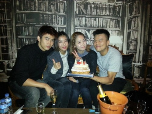 Taecyeon, Yubin, and Yenny celebrate J.Y. Park's birthday