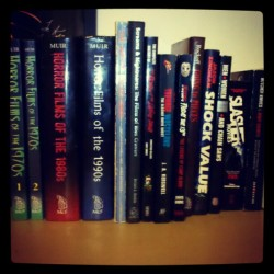 Some of my #horror #books. #slasher #gore #80s