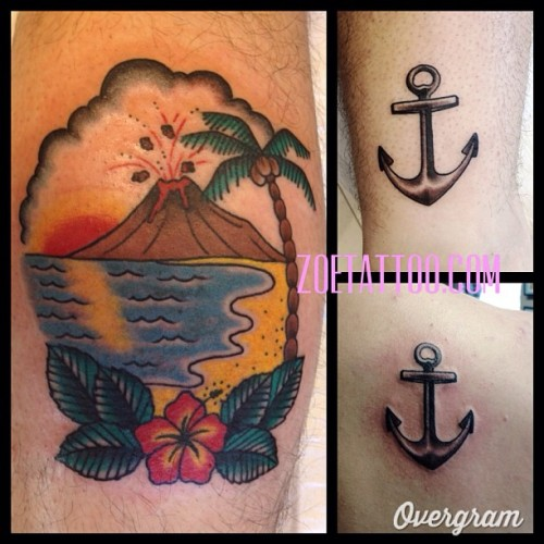 Last week. Edit of one my flash day pieces, matching anchors #zoetattoo #thirdeyetattoo #thirdeyemelbourne  (at Third Eye Tattoo)