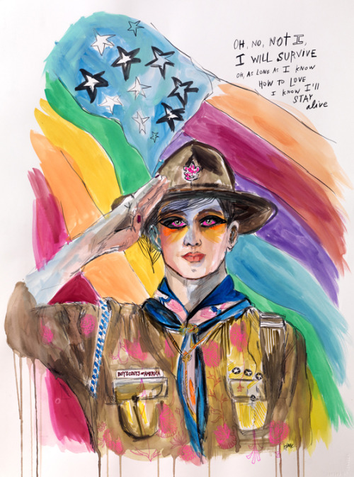 Artists Reimagine Norman Rockwell's Boy Scouts
