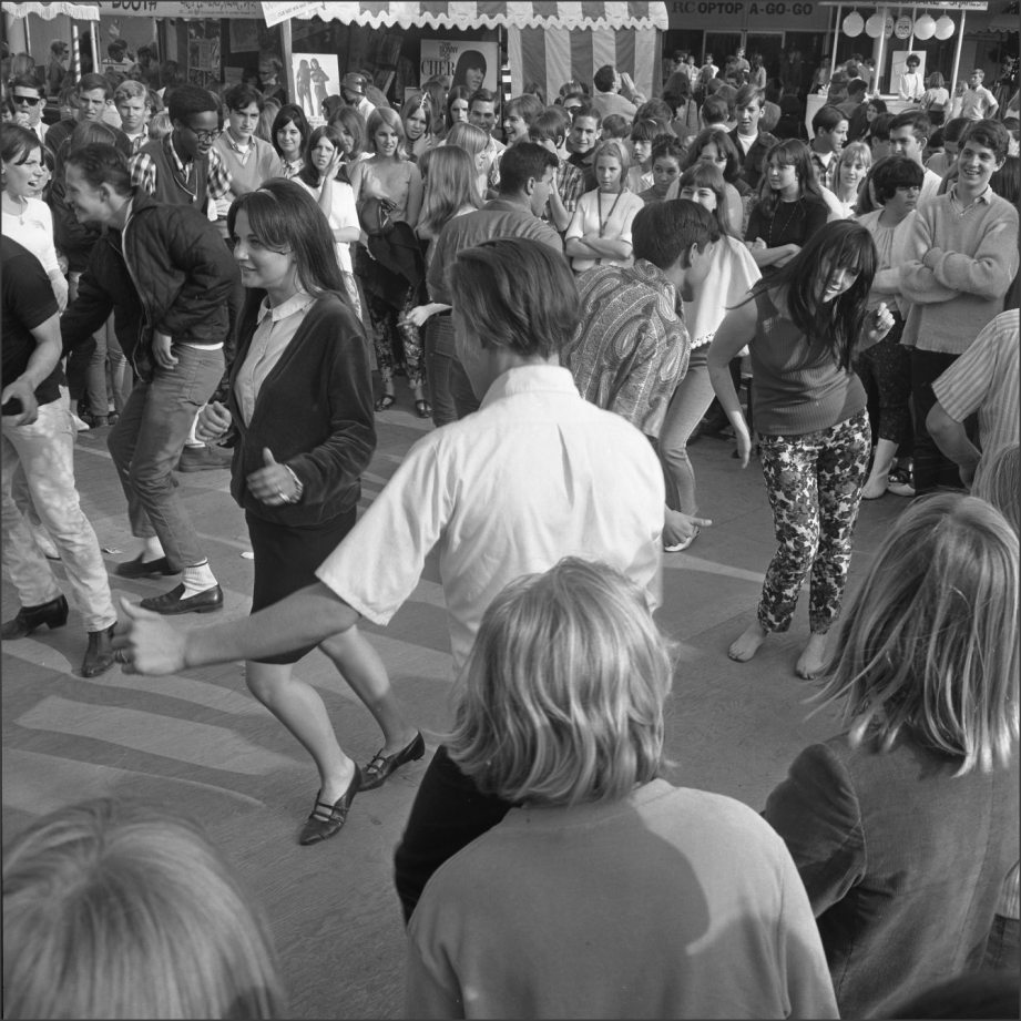 Teens, 1966 The happy sound of music and teenagers respond on the dance floor at annual Teen-age Fair at the Hollywood Palladium. via