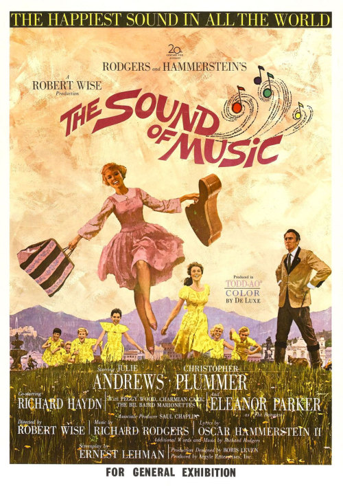 "merlin:  The Sound of Music (film) - Wikipedia, the free encyclopedia  Just noted in passing:  ""The Sound of Music Theme"" ""Maria"" ""I Have Confidence"" ""Sixteen Going on Seventeen"" ""My Favorite Things"" ""Do-Re-Mi"" All six songs were introduced in the first sixty minutes of The Sound of Music.  If, like me, you're not a skilled mathematician, let me share some casual cipherin' that this averages out to one classic standard of popular music per ten filmed minutes.  That's…insane."
