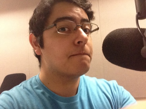 Selfie from the radio room while I wait for tech support to show up
