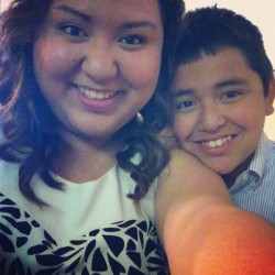 With my brother. :) #lovehim #brother #sibling #quince #fun