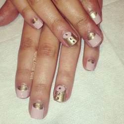 A Gatsby-inspired prom mani for Margot. Have a great time this weekend, girl!