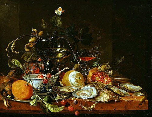 Jan Davidsz. de Heem Still Life with Wine, Fruit and Oysters 17th century