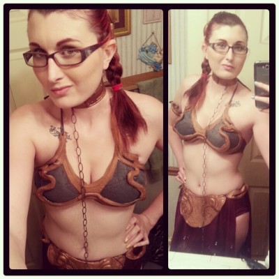 That one night I decided to be Slave Leia
