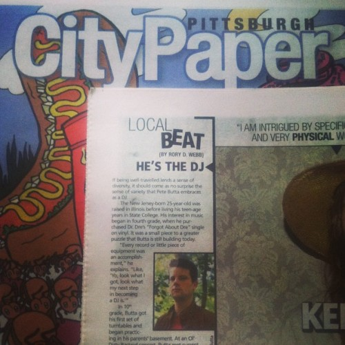 Pick up a City Paper today. It's informative, free, and this weeks issue features myself. Infinite thanks to @rorydwebb for a great article.