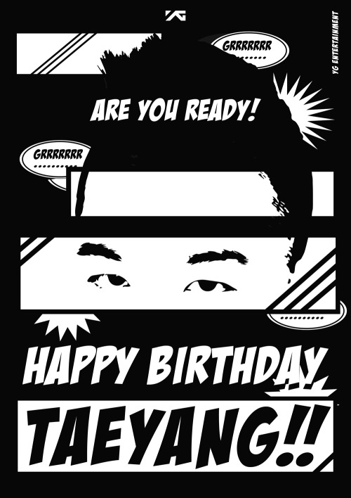 "ygfamilyy:  YG Life Update (130518): ""HAPPY BIRTHDAY TAEYANG!"""