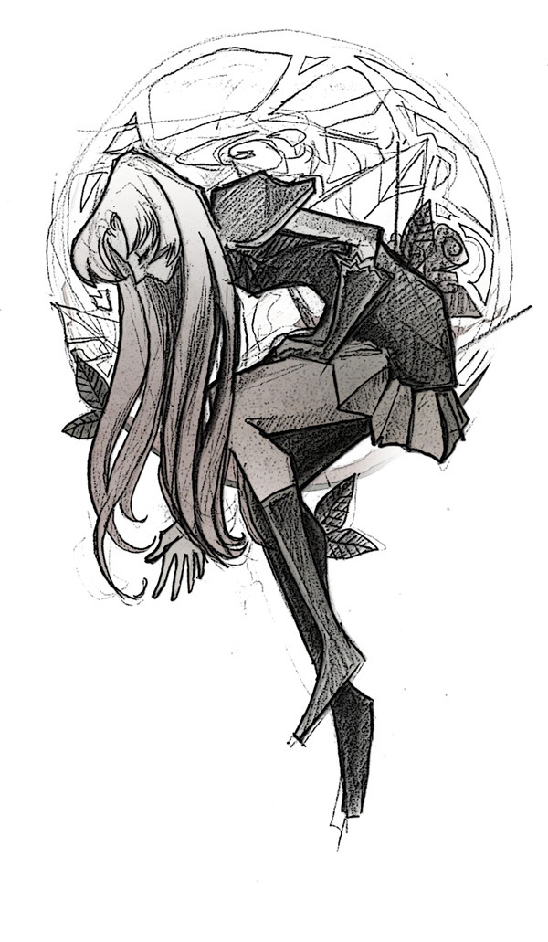 willanimateforwine:  someone recommended to watch Utena for research. sketch that became too elaborate as procrastinating went on.