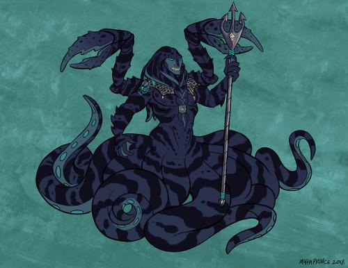 kraken squid trident net shells claws crab octopus fish mermay merfology merman monster monster boy monster man teal green turquoise sea ocean aquatic queue