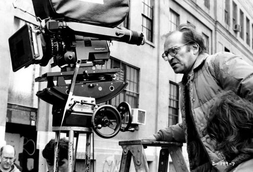 Director Sidney Lumet plans the next shot of Daniel