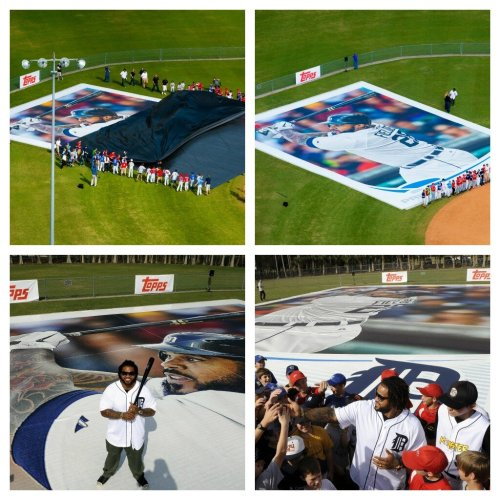 @MLB: World's biggest baseball card unveiled today by @toppscards – fitting it belongs to a Prince