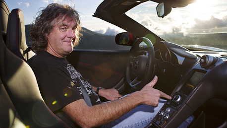 "topgear:  May's Car of the Year: McLaren 12C Spider  James May is a fan of good design and an even bigger exponent of excellence in engineering: two things he found in abundance in the new McLaren 12C Spider – a convertible that neatly beheads the usual arguments against convertible cars by being as perfectly dynamic as the coupe version. Except with a mighty sunroof. Driving the car exclusively for TG mag along the highest paved road in Europe, James discovered that the 12C Spider was: ""Perhaps the most benign supercar I've ever tried. Some would want to be admired for their courage in mastering a Ferrari GTO or that demanding Lamborghini Aventador, but I say cobblers to that. I can challenge myself by learning to play the violin. This is a good-time car and I want a good time. I get it.""  For video of James May in the McLaren 12C, visit TopGear.com"